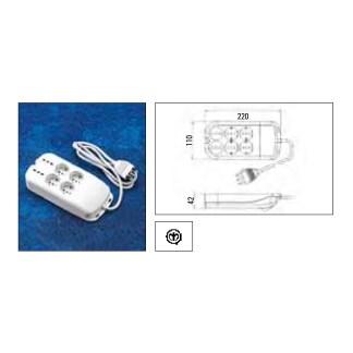 Multipresa Ciabatta Elettrica 6 posti Schuko 281/GR/BL