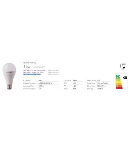 D 1350lm Bulb A65 15W (90w)