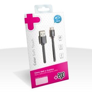 Cavo Dati e Ricarica da Usb a Micro USB 1 mt. Soft Touch +ego