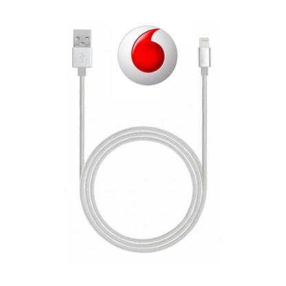 Cavo dati USB Lightning in tessuto intrecciato e con connettori metallici - Silver