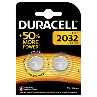 Batterie 2032 Duracell Litio 3V blister 2PZ