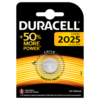 Batterie 2025 Duracell Litio 3V blister 1pz