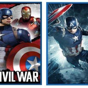 Telo Mare Captain America Marvel cotone 70 x 140 cm
