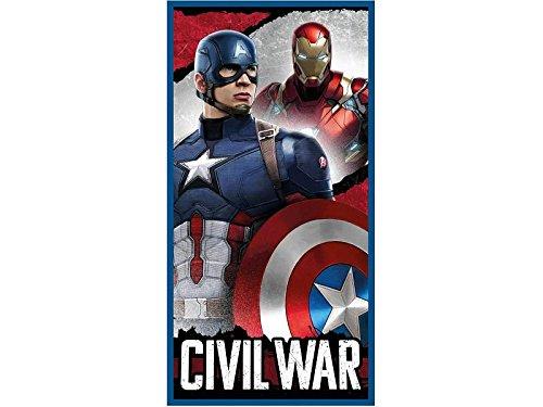 Captain America Telo Mare Piscina Asciugamano 70x140 cm 100/% Cotone Marvel Avengers Capitan America Civil War Prodotto Originale CA09001/_3