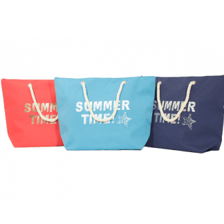 Borsa Mare Summer Time 54 x 38 cm. 3 Colori Assortiti