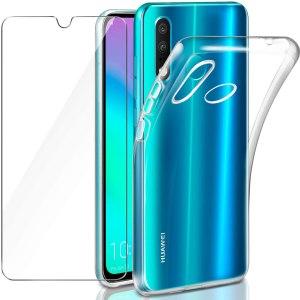 Kit Cover TPU Trasparente e Vetro Protettivo per Huawei Y6 2019