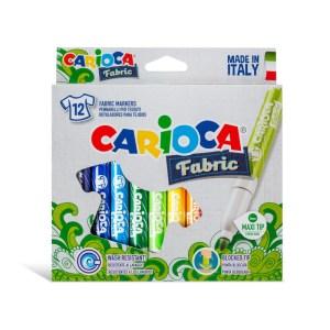 Pennarelli Per Tessuti Punta Maxi 12 PZ Carioca Fabric
