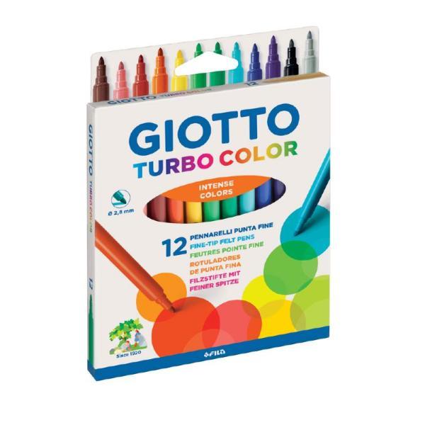 Pennarelli Giotto Turbo Color 12 pz