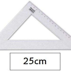 Squadretta 45 gradi in plastica da 25 cm