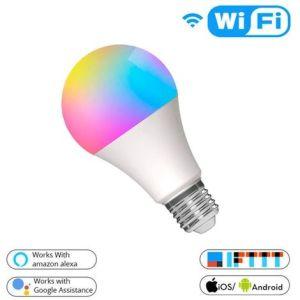 Lampadina LED E27 806lm 10W (60w) Dimmerabile Smart WiFi RGB compatibile Alexa e Google