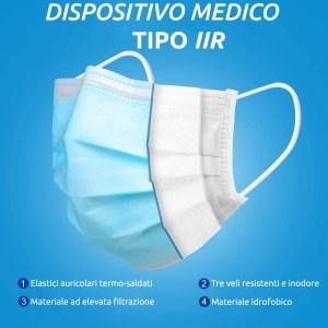 Mascherina Chirurgica IIR 3 Strati 10 pezzi