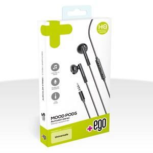 Auricolari Stereo - Jack 3,5mm con tasto risposta e microfono Nero
