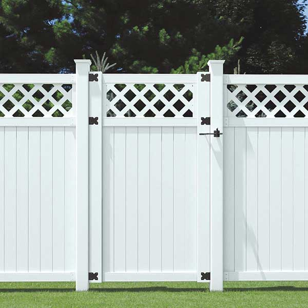 Vinyl Single Gate Privacy Fence