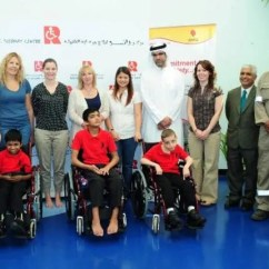Wheelchair Emirates Massage Chair Ogawa Gas Marks Csr Commitment With Donation Of Wheelchairs To Rashid Paediatric Therapy Centre Al Bawaba