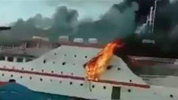 البوابة نيوز: فيديو| اندلاع حريق فى سفينة شرقي إندونيسيا