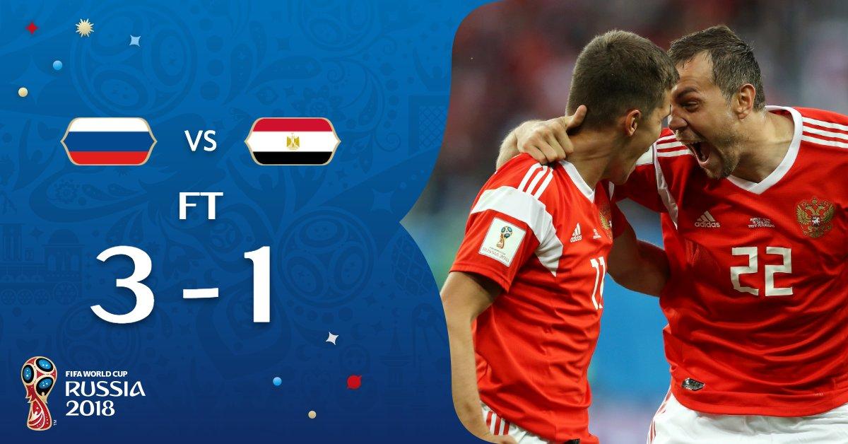 مصر تود ع المونديال بخسارة ثانية من روسيا البيان