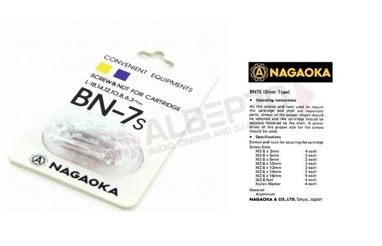 Nagaoka BN-7S Headshell Schroefjes Silver