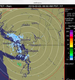 there is already snow building over the strait on the radar and some reaching the island just south of nanaimo and in ladysmith  [ 1024 x 768 Pixel ]