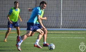 Últimos entrenamientos del Real Jaén antes de medirse al Linense