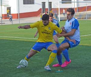 Instante del CD Navas - Urgavona CF   Manuel Zapata