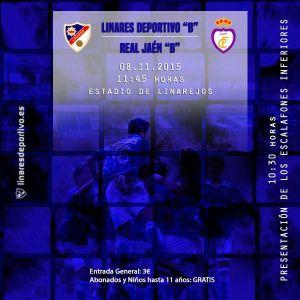Cartel informativo del partido | Linares Deportivo