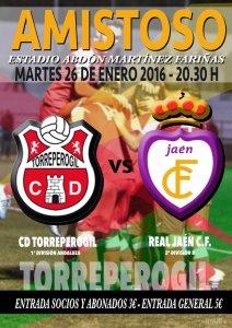 Cartel anunciando el partido   CD Torreperogil