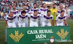 Once del Jaén ante el Linense | Mario Pastor / RealJaén.com