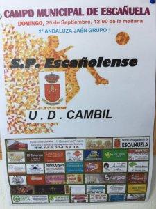 Cartel del partido | SD Escañolense