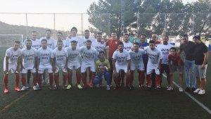 El Hispania portó camisetas de ánimo a Rafa   CD Hispania