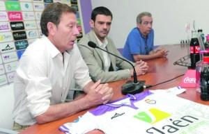 Higinio Vilches en sala de prensa   Real Jaén CF