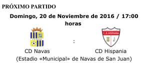 Anuncio del partido | CD Hispania