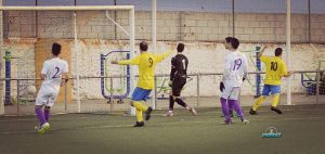 Chus celebra su gol al Jaén | Manuel Zapata
