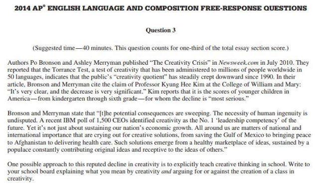 Essays for ap english language
