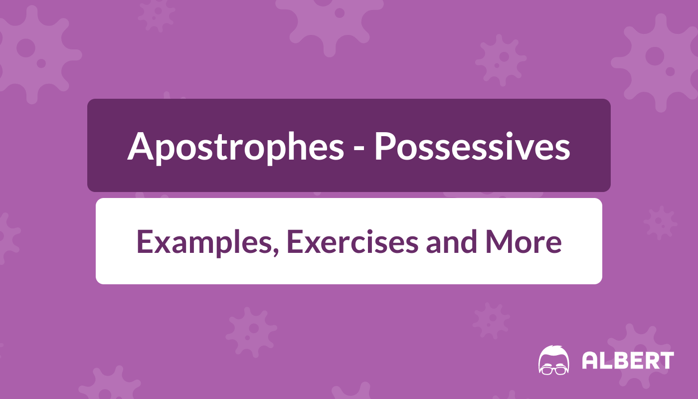 hight resolution of Apostrophes - Possessives: Definition