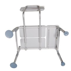 Grey Bathroom Safety Shower Tub Bench Chair Rolling Chairs On Wood Floors Padded Seat Transfer  Ams