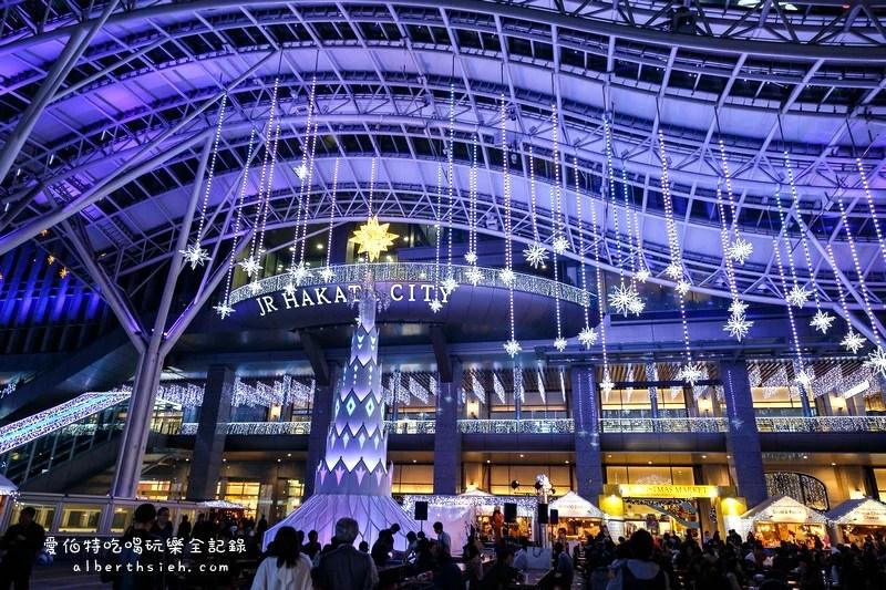 九州聖誕.警固公園(西鐵天神駅前的聖誕燈飾以及溜冰場和小火車)
