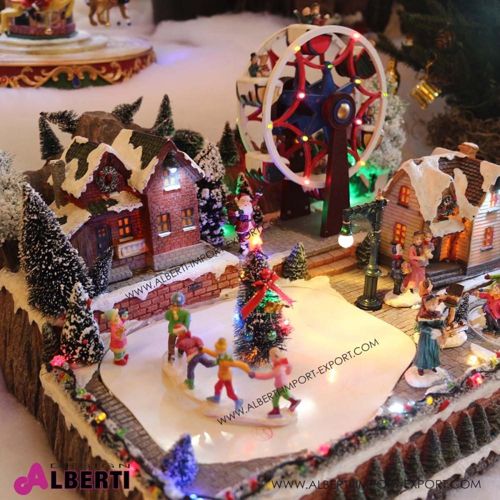 Villaggio Natale con ruota