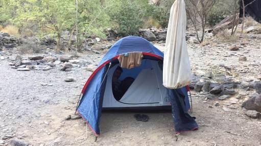 Acampada a les muntanyes d'Oman