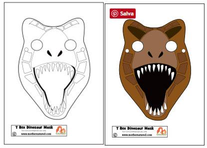 Carnevale Per Bambini Maschere Di Dinosauri Di Carta Maestro Alberto