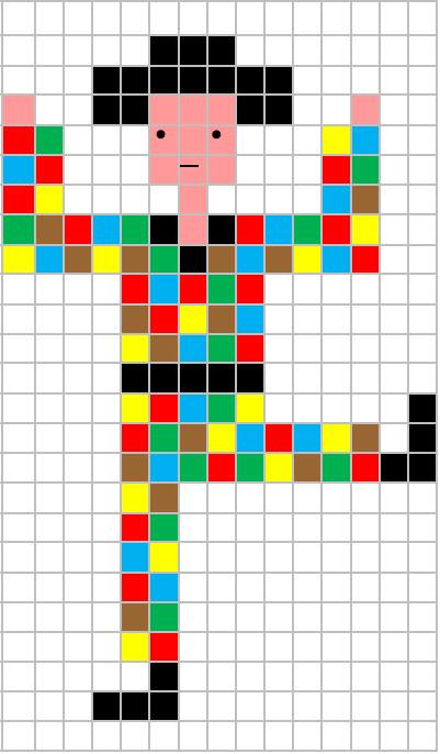 Coding Unplugged E Pixel Art La Scheda Di Carnevale Di Arlecchino