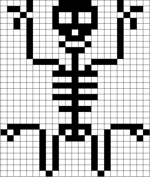 Coding Unplugged E Pixel Art Lo Scheletro Di Halloween Che Balla