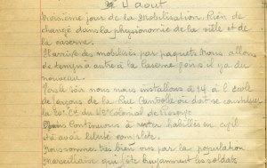 4 aout 1914 - Logement dans l'école Candolle