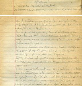 5 août 1914 - Déclaration de guerre de l'Allemagne !