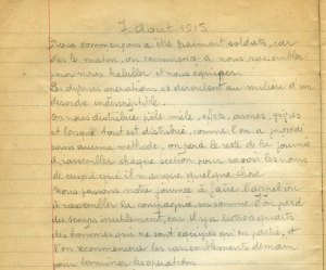 07 aout 1914 – Habillés et équipés