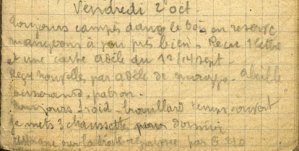 19141002-001 Toujours campés dans le bois en réserve.