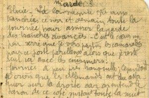 19141103-001 La compagnie garde les tranchées avancées