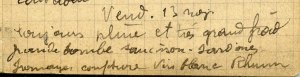 19141113-001 Grande bombe : saucisson, sardines, fromage…