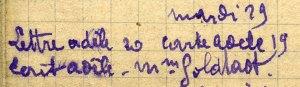 Reçu lettre et carte d'Adèle