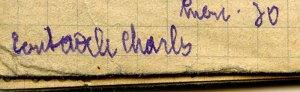 Écrit Adèle, Charles