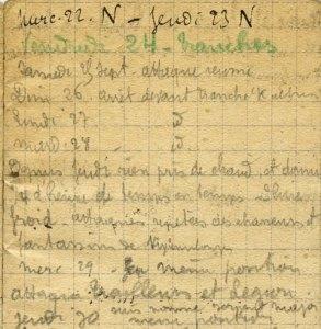 19150930-002 Suis nommé sergent-major